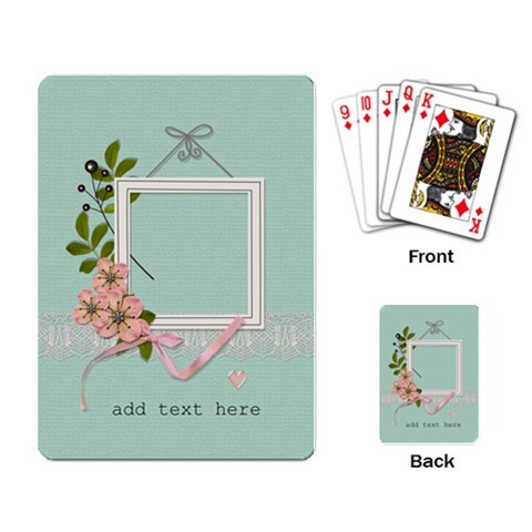 Playing Cards: Flowers For You By Jennyl   Playing Cards Single Design   Xfdogeld407p   Www Artscow Com Back