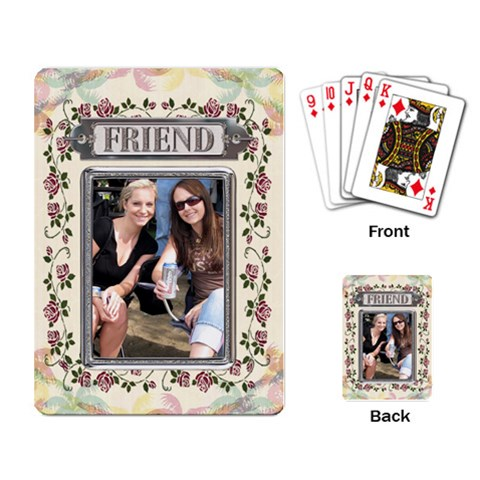 Floral Friend Playing Cards By Lil    Playing Cards Single Design   Ftboy65uiv7p   Www Artscow Com Back