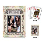 Floral Friend Playing Cards - Playing Cards Single Design
