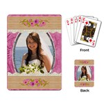 Lovely Pink Playing Cards - Playing Cards Single Design