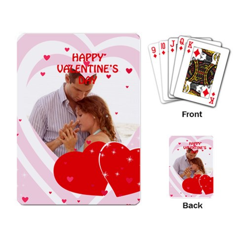Love By Wood Johnson   Playing Cards Single Design   0slc18sr8777   Www Artscow Com Back