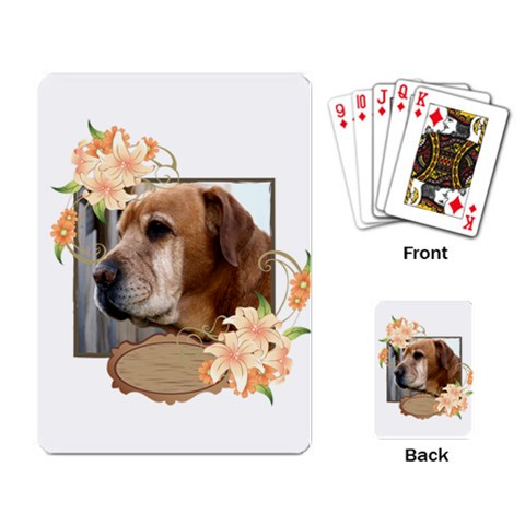 My Pet By Wood Johnson   Playing Cards Single Design   57k6z5hdnymq   Www Artscow Com Back