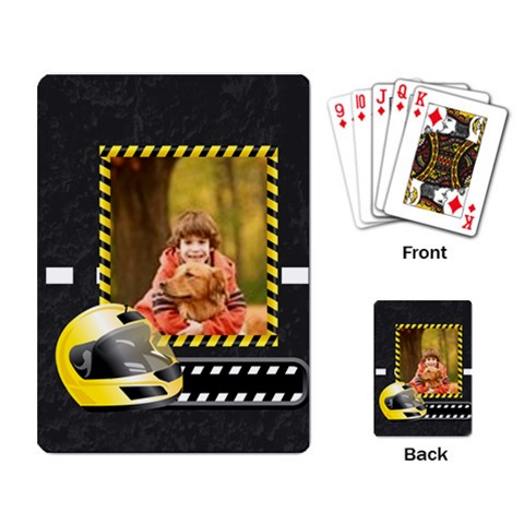 Race By Wood Johnson   Playing Cards Single Design   L63jo4z03kk9   Www Artscow Com Back