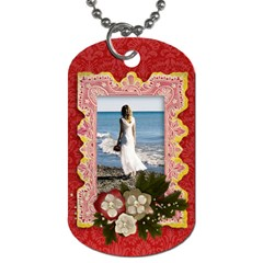Love/blessings/vintage Dog Tag (2 Sides) By Mikki   Dog Tag (two Sides)   F6ygjxguc8kn   Www Artscow Com Back