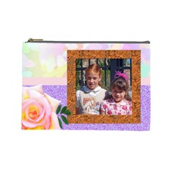 Rose Tier Ex Large Make Up Bag By Kim Blair   Cosmetic Bag (large)   2dt7n4jd7399   Www Artscow Com Front