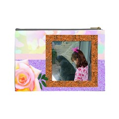 Rose Tier Ex Large Make Up Bag By Kim Blair   Cosmetic Bag (large)   2dt7n4jd7399   Www Artscow Com Back
