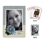 Blue floral-Playing cards (single design) - Playing Cards Single Design