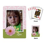 Pink Damask/Daisy-Playing cards (single design) - Playing Cards Single Design