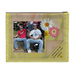 Friends Are Like Flowers Xl Cosmetic Bag By Lil    Cosmetic Bag (xl)   R699qs15c18b   Www Artscow Com Back