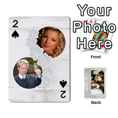 Our Wedding 54 Design (2 Sided) Cards By Deborah   Playing Cards 54 Designs   H5njzerm4p6x   Www Artscow Com Front - Spade2