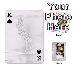 King Our Wedding 54 Design (2 Sided) Cards By Deborah   Playing Cards 54 Designs   H5njzerm4p6x   Www Artscow Com Front - SpadeK
