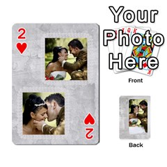 Our Wedding 54 Design (2 Sided) Cards By Deborah   Playing Cards 54 Designs   H5njzerm4p6x   Www Artscow Com Front - Heart2
