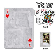 Our Wedding 54 Design (2 Sided) Cards By Deborah   Playing Cards 54 Designs   H5njzerm4p6x   Www Artscow Com Front - Heart7