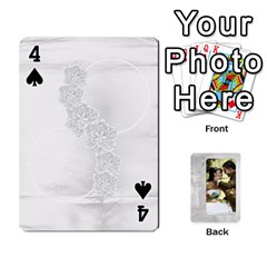 Our Wedding 54 Design (2 Sided) Cards By Deborah   Playing Cards 54 Designs   H5njzerm4p6x   Www Artscow Com Front - Spade4