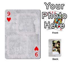 Our Wedding 54 Design (2 Sided) Cards By Deborah   Playing Cards 54 Designs   H5njzerm4p6x   Www Artscow Com Front - Heart9