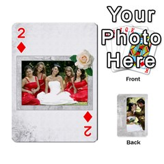 Our Wedding 54 Design (2 Sided) Cards By Deborah   Playing Cards 54 Designs   H5njzerm4p6x   Www Artscow Com Front - Diamond2