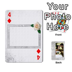 Our Wedding 54 Design (2 Sided) Cards By Deborah   Playing Cards 54 Designs   H5njzerm4p6x   Www Artscow Com Front - Diamond4