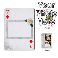 Our Wedding 54 Design (2 Sided) Cards By Deborah   Playing Cards 54 Designs   H5njzerm4p6x   Www Artscow Com Front - Diamond7