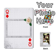 Queen Our Wedding 54 Design (2 Sided) Cards By Deborah   Playing Cards 54 Designs   H5njzerm4p6x   Www Artscow Com Front - DiamondQ