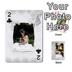 Our Wedding 54 Design (2 Sided) Cards By Deborah   Playing Cards 54 Designs   H5njzerm4p6x   Www Artscow Com Front - Club2