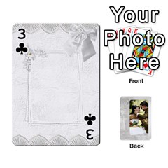 Our Wedding 54 Design (2 Sided) Cards By Deborah   Playing Cards 54 Designs   H5njzerm4p6x   Www Artscow Com Front - Club3
