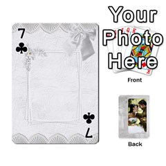 Our Wedding 54 Design (2 Sided) Cards By Deborah   Playing Cards 54 Designs   H5njzerm4p6x   Www Artscow Com Front - Club7