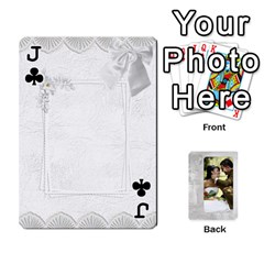 Jack Our Wedding 54 Design (2 Sided) Cards By Deborah   Playing Cards 54 Designs   H5njzerm4p6x   Www Artscow Com Front - ClubJ