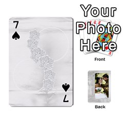 Our Wedding 54 Design (2 Sided) Cards By Deborah   Playing Cards 54 Designs   H5njzerm4p6x   Www Artscow Com Front - Spade7