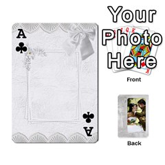 Ace Our Wedding 54 Design (2 Sided) Cards By Deborah   Playing Cards 54 Designs   H5njzerm4p6x   Www Artscow Com Front - ClubA