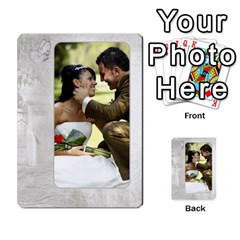 Our Wedding 54 Design (2 Sided) Cards By Deborah   Playing Cards 54 Designs   H5njzerm4p6x   Www Artscow Com Back