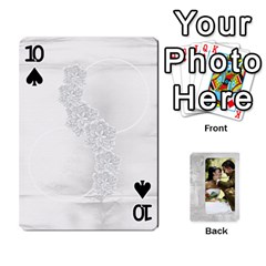 Our Wedding 54 Design (2 Sided) Cards By Deborah   Playing Cards 54 Designs   H5njzerm4p6x   Www Artscow Com Front - Spade10