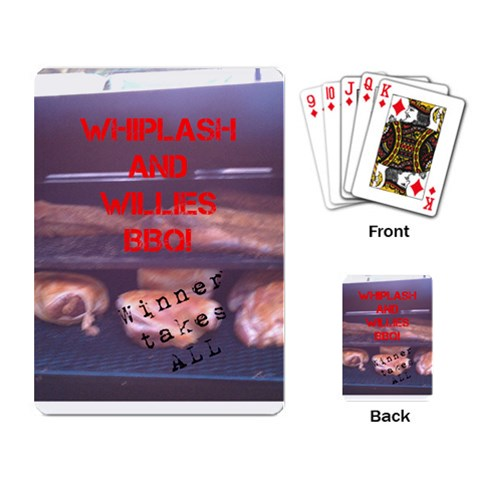 Playing Cards Wwbbq By Kailey C Nieman   Playing Cards Single Design   Vo617pss1amb   Www Artscow Com Back