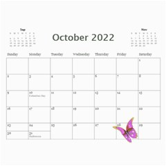 Little Butterflies 2017 (any Year) Calendar By Deborah   Wall Calendar 11  X 8 5  (12 Months)   55ml3z9009d1   Www Artscow Com Oct 2017