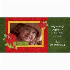 Christmas/poinsettia Photo Cards By Mikki   4  X 8  Photo Cards   5p1pqsx4ozy5   Www Artscow Com 8 x4 Photo Card - 1