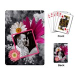Pink Floral Playing Cards - Playing Cards Single Design