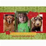 Christmas Magic/poinsettia-5x7 Photo Card - 5  x 7  Photo Cards