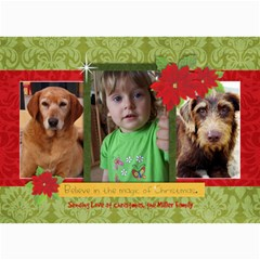 Christmas Magic/poinsettia 5x7 Photo Card By Mikki   5  X 7  Photo Cards   4z72b8bb69r5   Www Artscow Com 7 x5 Photo Card - 4