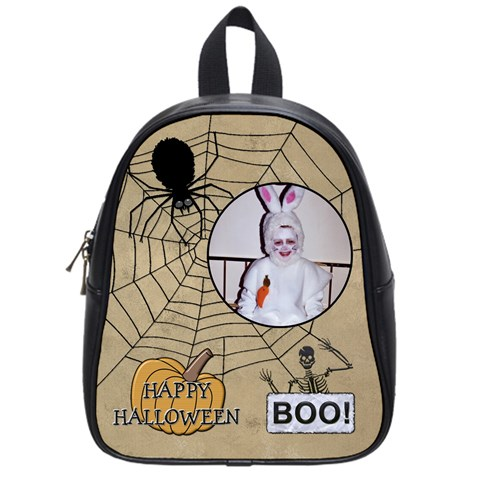 Halloween Candy Bag 2 (small School Bag) By Lil    School Bag (small)   Rkn1556pudqc   Www Artscow Com Front