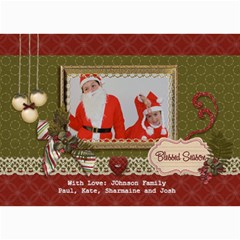 5x7 Photo Card: Blessed Season By Jennyl   5  X 7  Photo Cards   05gczjeo9jvy   Www Artscow Com 7 x5 Photo Card - 8