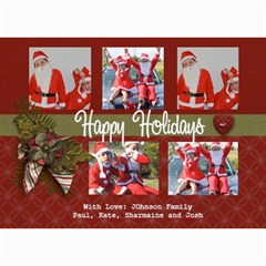 5x7 Photo Card: Happy Holidays By Jennyl   5  X 7  Photo Cards   61nxsxrdod8m   Www Artscow Com 7 x5 Photo Card - 3