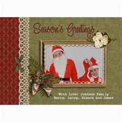 5x7 Photo Card: Season s Greetings By Jennyl   5  X 7  Photo Cards   D743aams4tbg   Www Artscow Com 7 x5 Photo Card - 6
