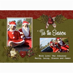 5x7 Photo Card:  tis The Season By Jennyl   5  X 7  Photo Cards   Tp2x2vnk50bq   Www Artscow Com 7 x5 Photo Card - 8
