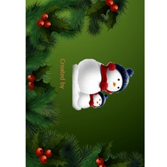 Snowman Christmas 5x7 Card By Deborah   Greeting Card 5  X 7    Tp4qg1xltbbg   Www Artscow Com Back Cover