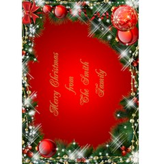 Merry Christmas In Red 5x7 Card By Deborah   Greeting Card 5  X 7    V0sdfmuuowgs   Www Artscow Com Front Cover