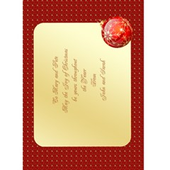 Merry Christmas In Red 5x7 Card By Deborah   Greeting Card 5  X 7    V0sdfmuuowgs   Www Artscow Com Back Inside