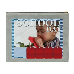 Back To School By Joely   Cosmetic Bag (xl)   51n8i8so96cq   Www Artscow Com Back