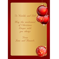Christmas And New Year 5x7 Card By Deborah   Greeting Card 5  X 7    X212k0c2oc3p   Www Artscow Com Back Inside