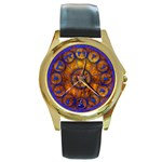 Sorcerer s Apprentice - Round Gold Metal Watch