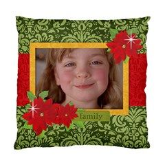 Christmas/family Cushion Case (two Sides) By Mikki   Standard Cushion Case (two Sides)   Cobykl177s8e   Www Artscow Com Front
