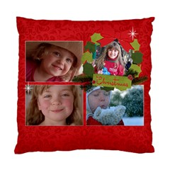 Christmas/family Cushion Case (two Sides) By Mikki   Standard Cushion Case (two Sides)   Cobykl177s8e   Www Artscow Com Back